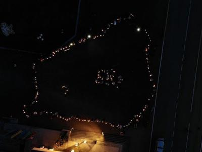 "The ecological action ""Earth Hour"" was spectacularly held in Vertelishki"